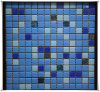 Chinese Supply High Quality Blue Glass Mosaic Tile Glass Mosaic Pattern for Swimming Pool