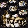 Christmas Mixed Diamond Rhinestones Mini Beads Cross Gemstone Circle 3D Nail Art Glitter New Arrive Jewelry Box Crystal Nails Decorations (NA07)