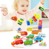 Children Wooden Beads Building Blocks Traffic Figures Educational Intelligent Toys
