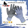 13G PU Coated Cut Resistant Hand Glove Level Grade 3 and 5