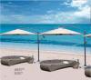 Leisure Rooftop Balcony Rattan Lying Chairs Pool Lounge Bed-2