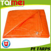 UV Treated 8X8 Weaving PE Tarpaulin Orange Color