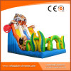 High Quality 0.55mm PVC Tarapulin Inflatable Tiger Dry Slide (T4-107)