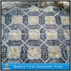 Discount Natural Polished Black/Yellow/White Pebble Stone Garden Mosaic