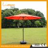 Hot Selling Orange Color Adjustable Garden Sun Umbrella Outdoor Elegant Parasol