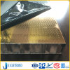 Gold Color 304/316 Stainless Steel Honeycomb Panel with Embossing Surface