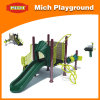 Outdoor Playground Playhouse with Slide (1080A)