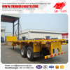 Double Axles 20FT Flatbed Semi Trailer with Container Locks