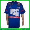 Sublimation Hidden Snap Club Uniform Shirts for Club or Team