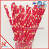 Red Polka DOT Silly Paper Drinking Straws
