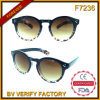 F7236 Lovely Round Demi Pattern Sunglass Produced China Sungalss