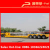 New Design 50 Tons-80 Tons 4 Axles Lowbed Front Loading Trailer for Sale