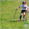 PP Fibrillated White Skiing Slope Artificial Synthetic Grass
