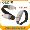 Deluxe Black Leather Wristband USB Flash Memory Bracelet USB Pen Drive 32GB (EL005)