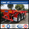 Cimc Huajun 40FT 3axle Skeleton/Skeletal Container Semi Trailer