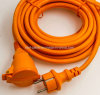 IP44 European Waterproof Extension Cord with Spring Shutter GS NF Red Colour