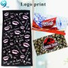 Simple Design 100% Cotton Velour Reactive Print Custom Brand Logo Towel