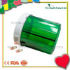 4 Compartments Round shape Pill Capsule Container With Screw Cap