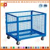 Industrial Stackable Steel Wire Mesh Storage Cage with Wheels (Zhra23)