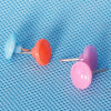 Coloured Plastic Button Push Pin Gift (QX-HP006) 11*16mm