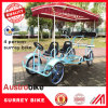 Outdoor 4 Person Quadricycle Bike with Baby Seat with Roof
