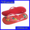 New Type Straps Girl PE Flip Flop with Flowers Print