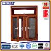 Wood Color Aluminium Double Glazed Windows for Tilt and Turn Aluminium Window