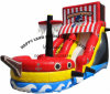 Commercial PVC Inflatable Pirate Boat with Bounce Slide