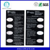 Transparent Plastic PVC Business Card Used as Promotion