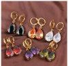 Gold Filled Womens Water Drop Earrings New Jewel Efl038