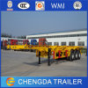 ISO 3 Axles Skeletal Semi Trailer 40ft Container Chassis