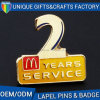 Customized Metal Alphabet Shaped Soft Enamel Lapel Pin Badge
