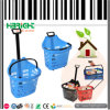 45L Superbasket Plastic Rolling Basket with Wheel