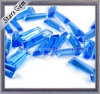Blue Trapezoid Shape Glass Beads for Jewelry