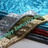 Brilliant Aluminum Flat Shape Metallic Sequin Fabric
