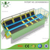 Long Jump Safety Trampoline Arena with Enclosure