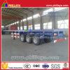 Container Transport 40FT Tri-Axle Flatbed Semi Trailer