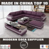L Shape Genuine Leather Sofa for Home Furniture