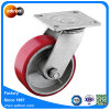 Swivel Plate PU on Cast Iron Caster 5inch Industrial Wheel