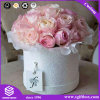 Waterproof Paper Rose Packaging Hat Flower Hamper Box