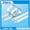 316 Steel Grade Stainless Steel Cable Strap with Ball Locking Mechanism