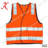 Fluo Orange Reflective Vest with High Light Reflective Tape (QF-546)