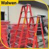 China Factory Cheap Insulated 7 Step Fiberglass a Frame Folding Ladder