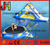 Portable Inflatable Floating Trampoline Slide for Swimming Pool