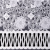 Organza White Embroidered Lace Fabric