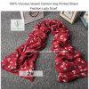 100% Viscose Newest Cartoon Dog Printed Shawl Fashion Lady Scarf