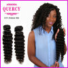 Quercy Hair Brazilian Deep Wave Curly Remy Human Hair Weft (W-059)