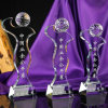 New Design Crystal Glass Golf Trophy for Sports