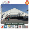 40m Width Curve Tent with Plain White PVC Sidewalls and Air Cons for Exhibition