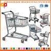Fashion European Style Two Basket Hand Push Shopping Trolley (Zht146)